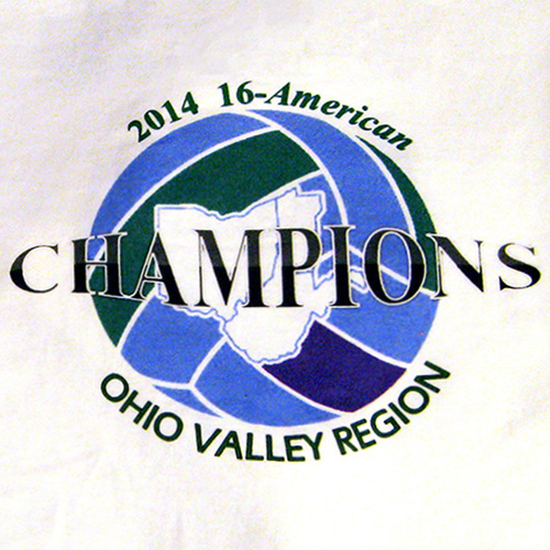 Ohio valley volleyball champs dtg printing by one call digital design